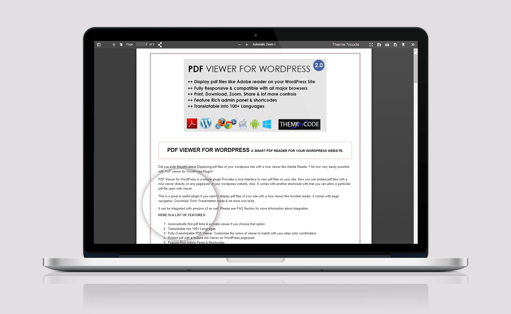 ThemeNcode launches PDF Viewer for WordPress on CodeCanyon