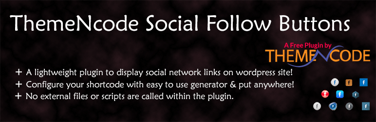 ThemeNcode Social Follow Buttons Demo