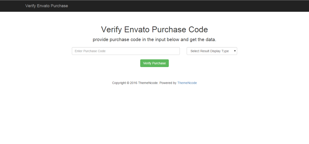 Verify Envato Clients by Purchase Code
