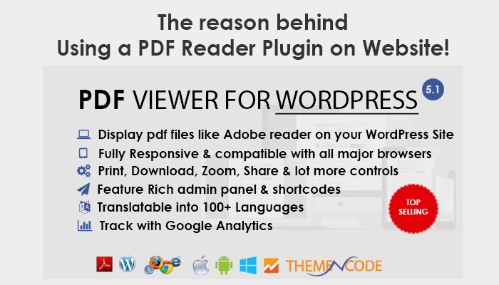 Why you should use a PDF Reader plugin on your Website ?